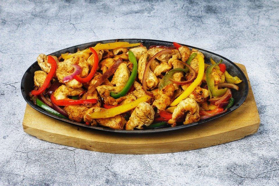 Fajitas, Meal, Platter, Sizzling Plate, Dinner, Food
