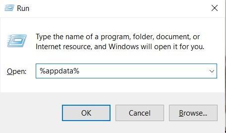 Windows 10 How To open App Data folder via Run