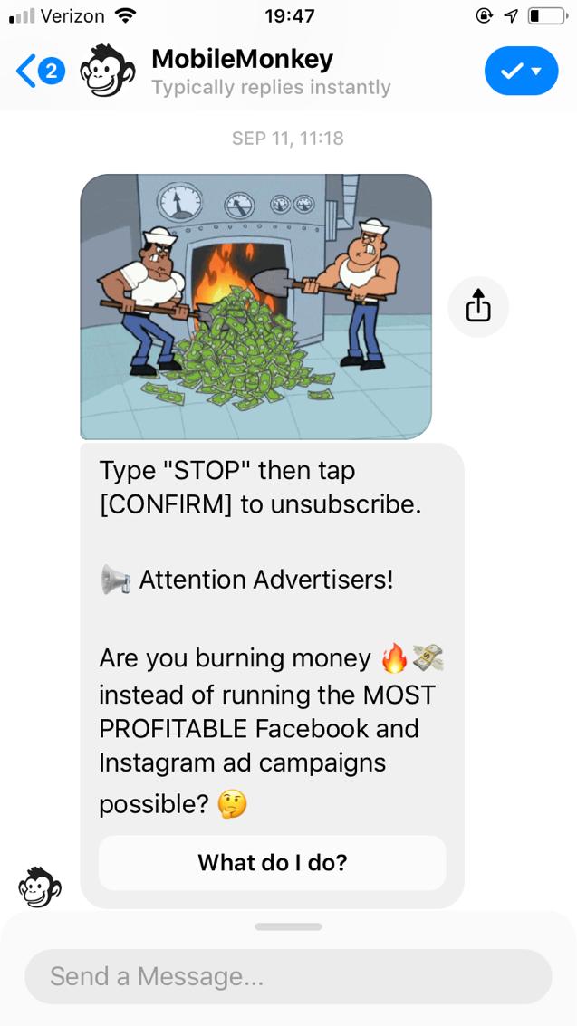 popular chatbots mobilemonkey bot