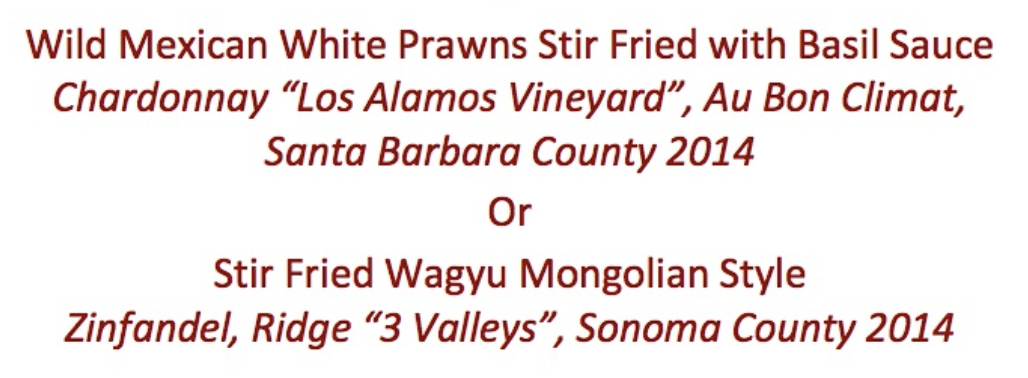 Description of of the 3- or 5-course tasting menu at California-based Uncle Yu's at the Vineyard