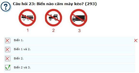 Câu hỏi 293 - câu hỏi khó thi lý thuyết bằng lái ô tô