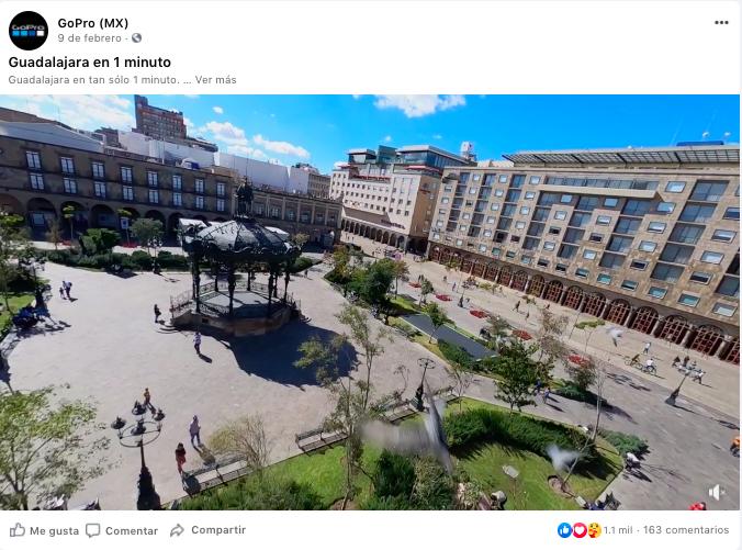 gopromx vista de la plaza de guadalajara