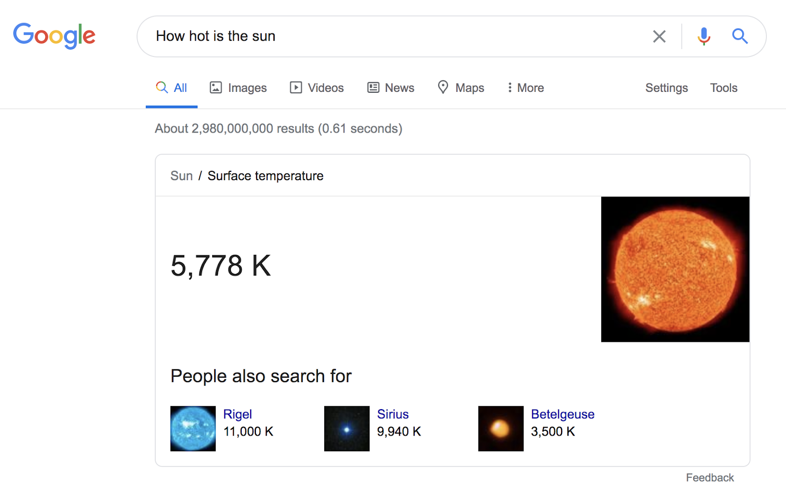 Google rich answers
