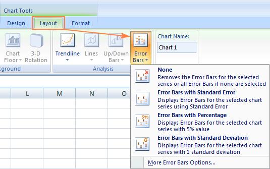 Adding error bars in Excel 2010