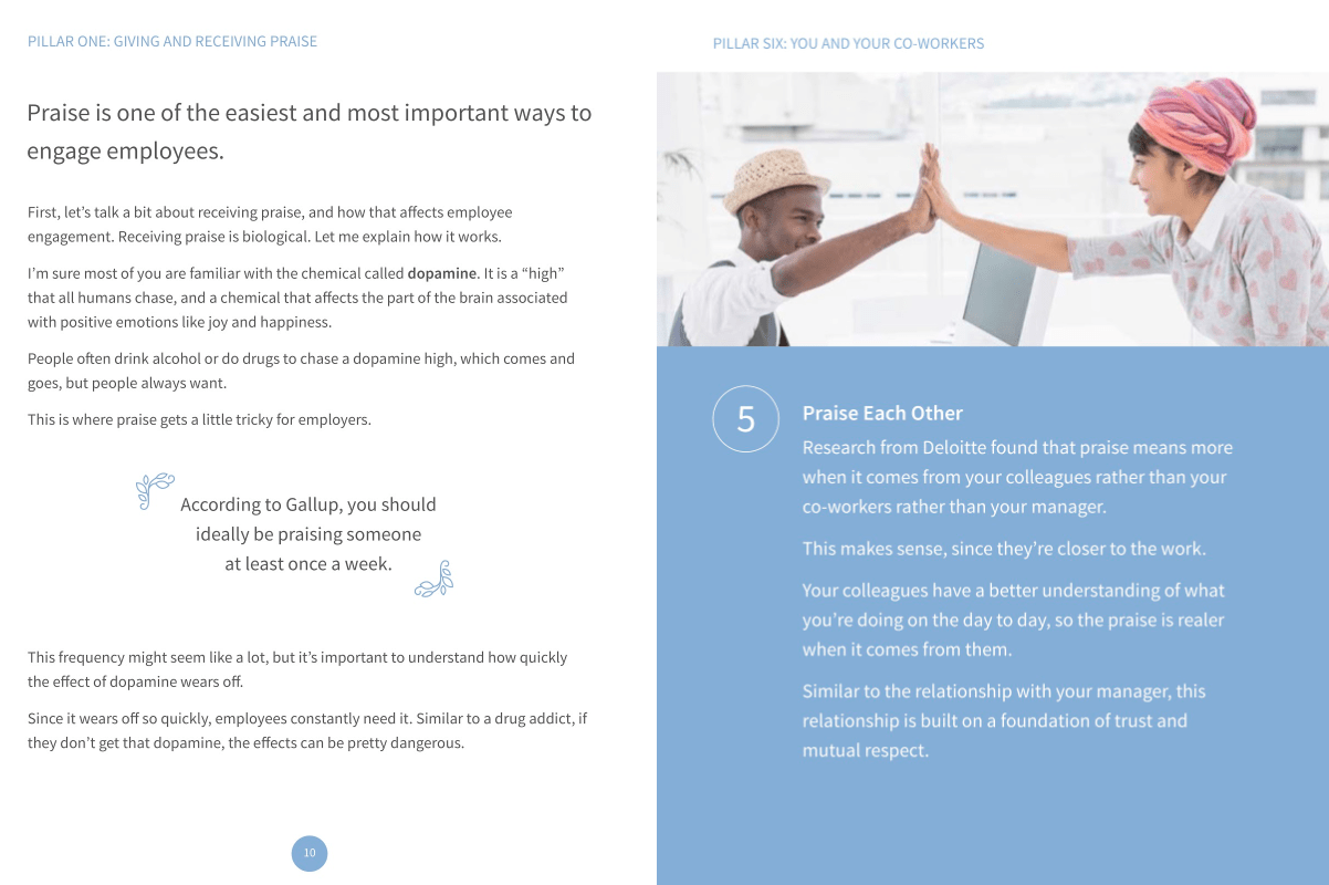 Example of an ebook about engaging employees at work.