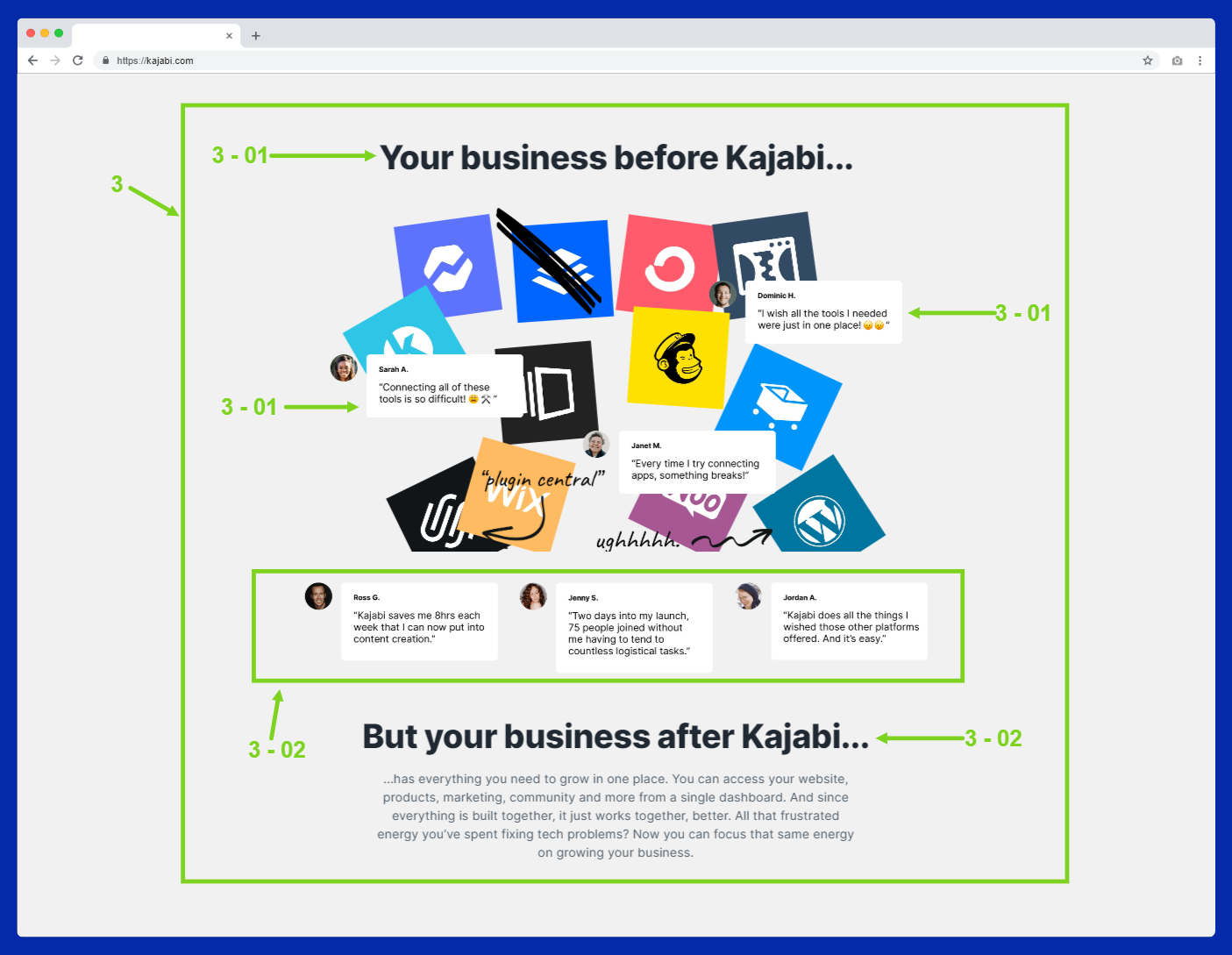 kajabi homepage copywriting