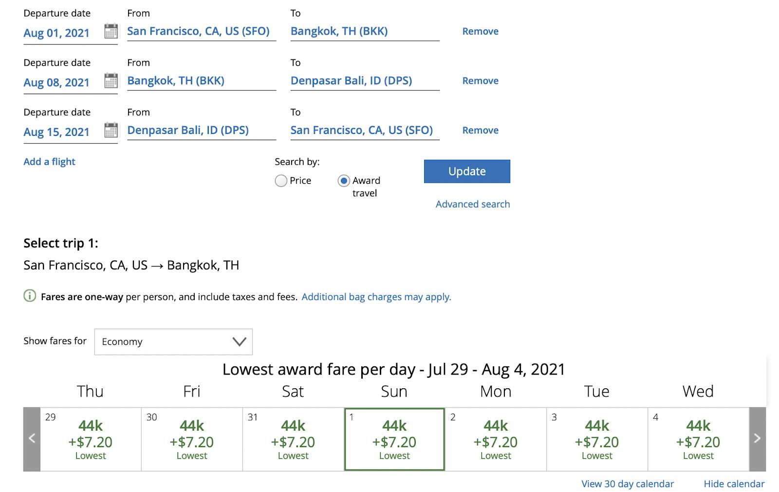 List of Flight from San Francisco to Bangkok