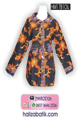 Batik Seragam, Model Baju Batik, Blus Terbaru, HM17B1OU
