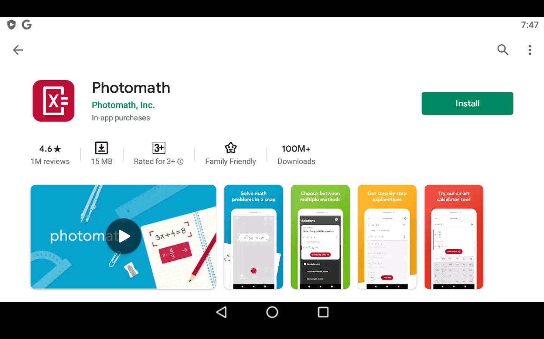 Photomath app on PC