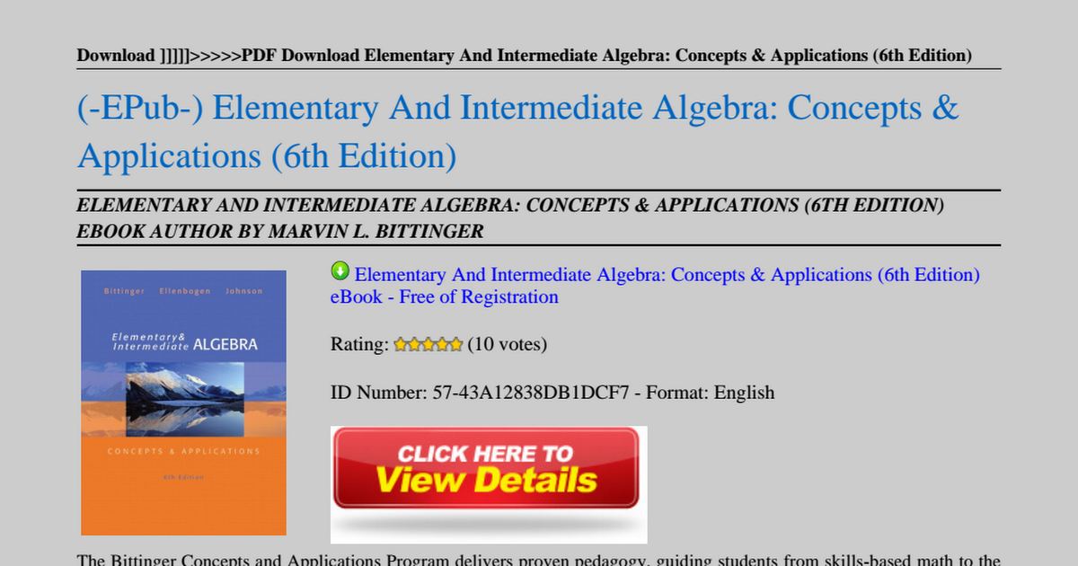 Elementary and intermediate algebra concepts applications 6th elementary and intermediate algebra concepts applications 6th editionpdf google drive fandeluxe Images