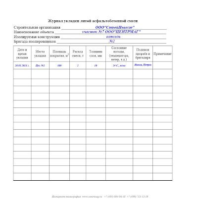 Журнал испытания бетонной смеси образец заполнения заказать раствор в воронеже