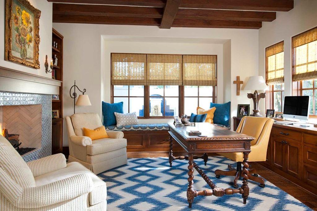 Desain mediteranian sangat dipengaruhi oleh pencahayaan matahari dan ukuran jendela - source: onekindesign.com