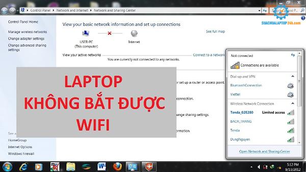 Lỗi laptop không bắt được Wifi