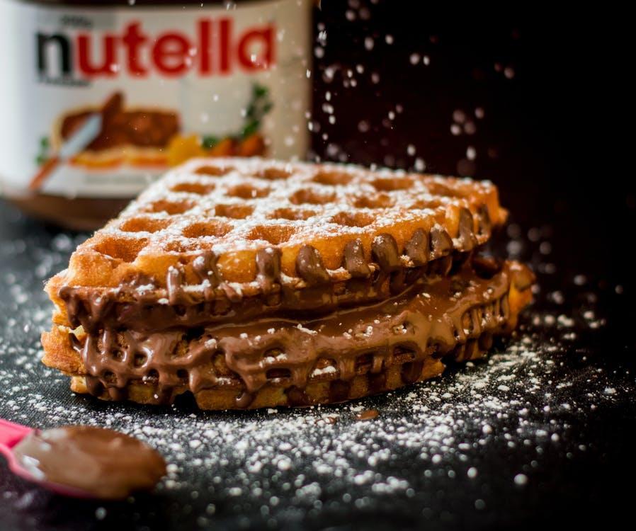 Wafel Met Nutella Fles