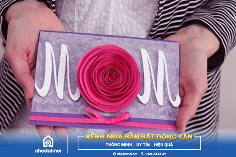 Thiệp hoa hồng chúc mừng ngày của Mẹ