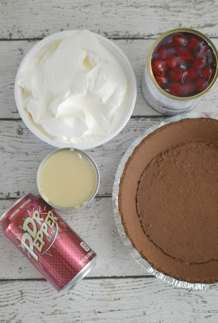 dr pepper recipes, icebox pie recipes, dr pepper dessert recipes, Dr Pepper Cherry Chocolate Icebox Pie, cherry icebox pie, dr pepper, icebox pie,