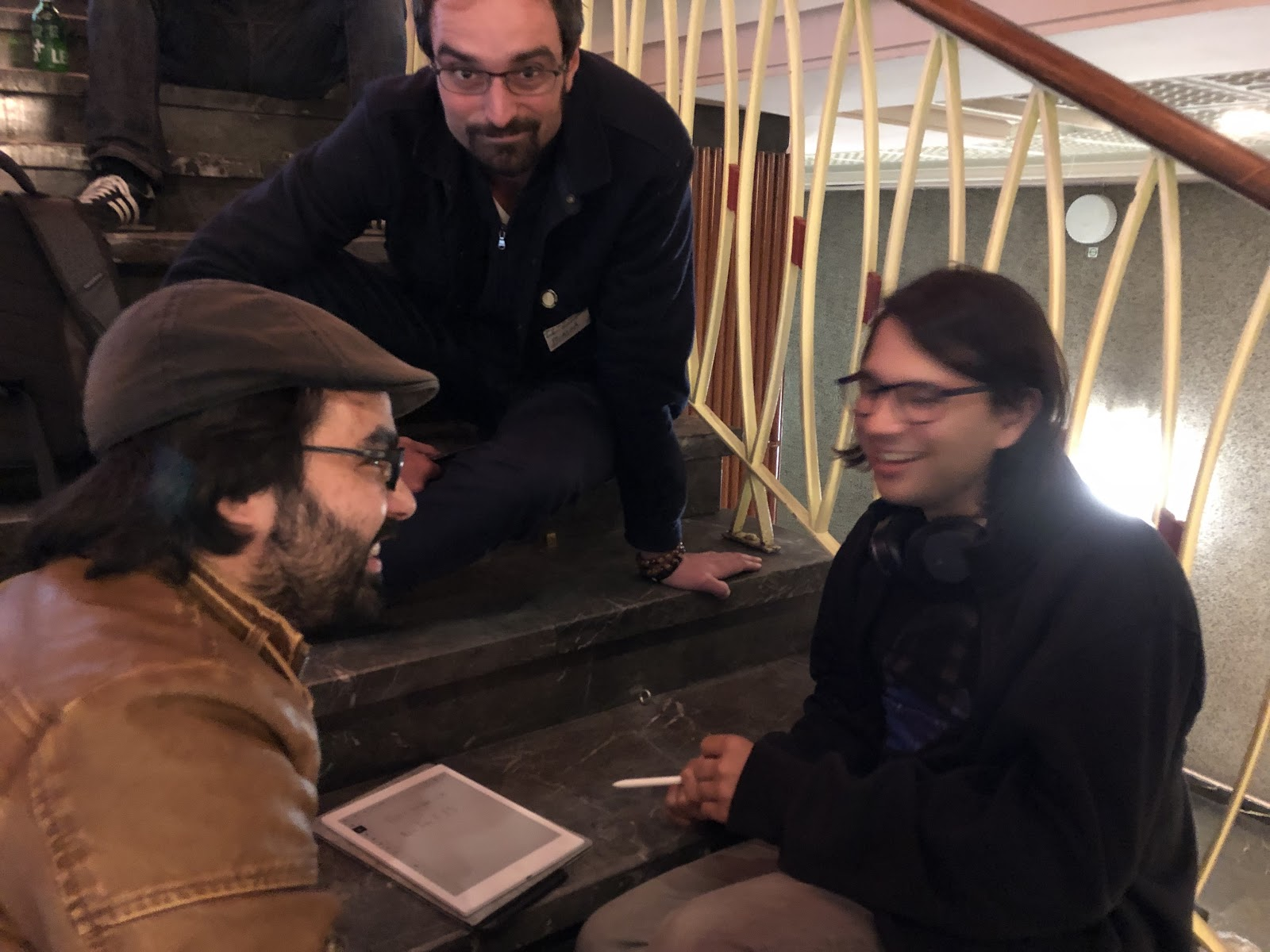 Vlad Zamfir (right) and pals