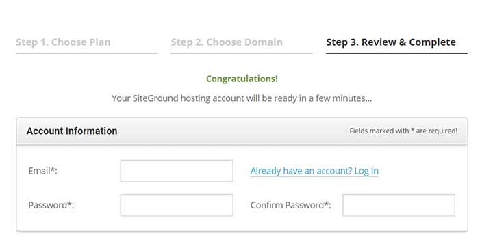 Buy SiteGround Hosting account