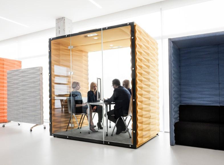Exemple de box acoustique de réunion dans un open space
