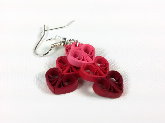 rolled paper earrings