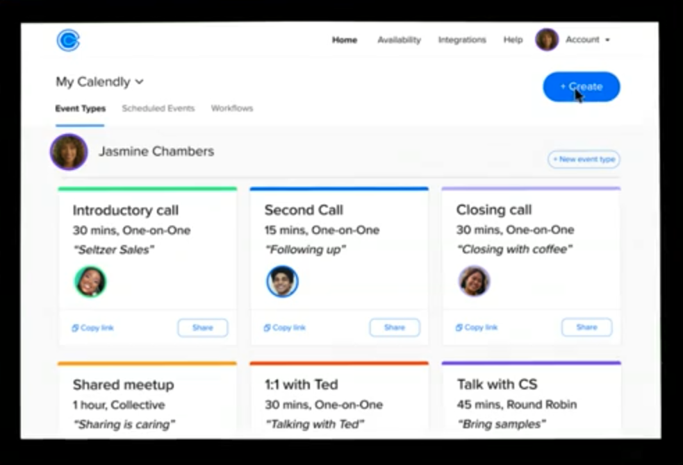 Calendly for time management and booking