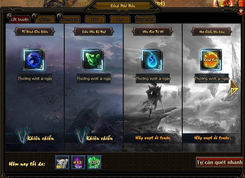 Phó bản cốt truyện | Webgame Khoa Huyễn Cửu Tinh Vô Song | 360game.vn