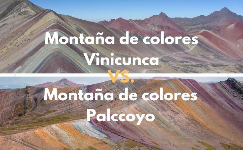 Diferencias entre montaña de colores Vinicunca y montaña de colores Palccoyo