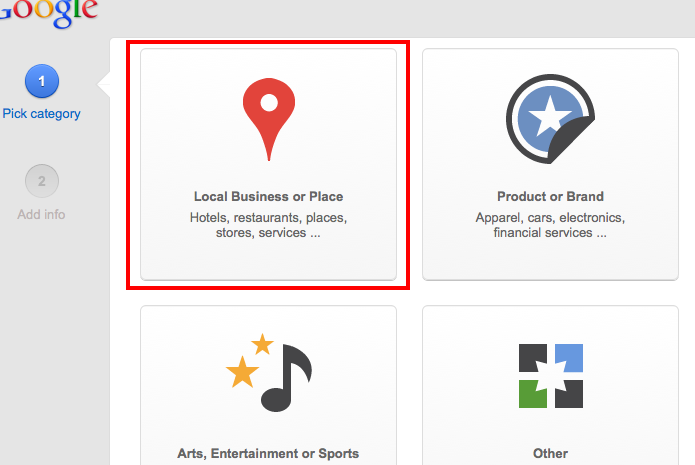 local business page google plus