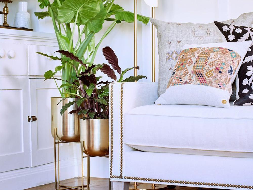 Màu vàngthể hiện ấn tượng thanh lịch trong nội thất gia đình
