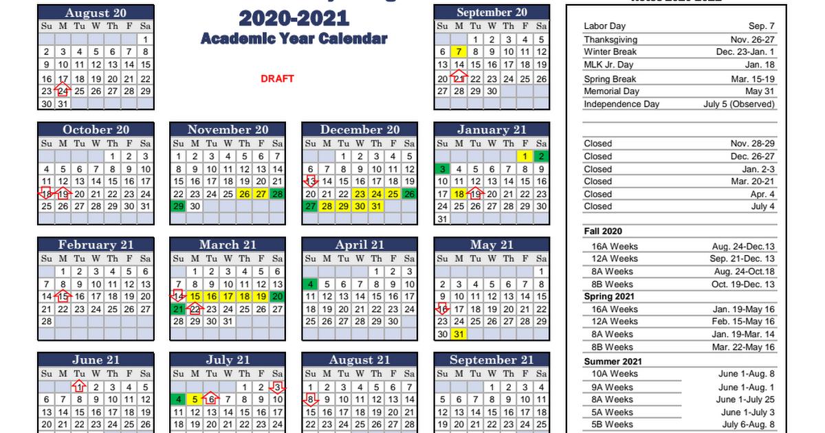 Ucf 2022 Academic Calendar.Draft 2020 2021 Academic Calendar Highlights Pdf Google Drive