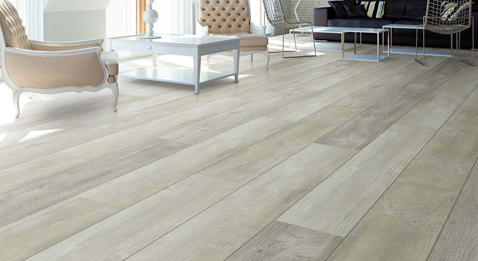 Vinyl flooring in custom home
