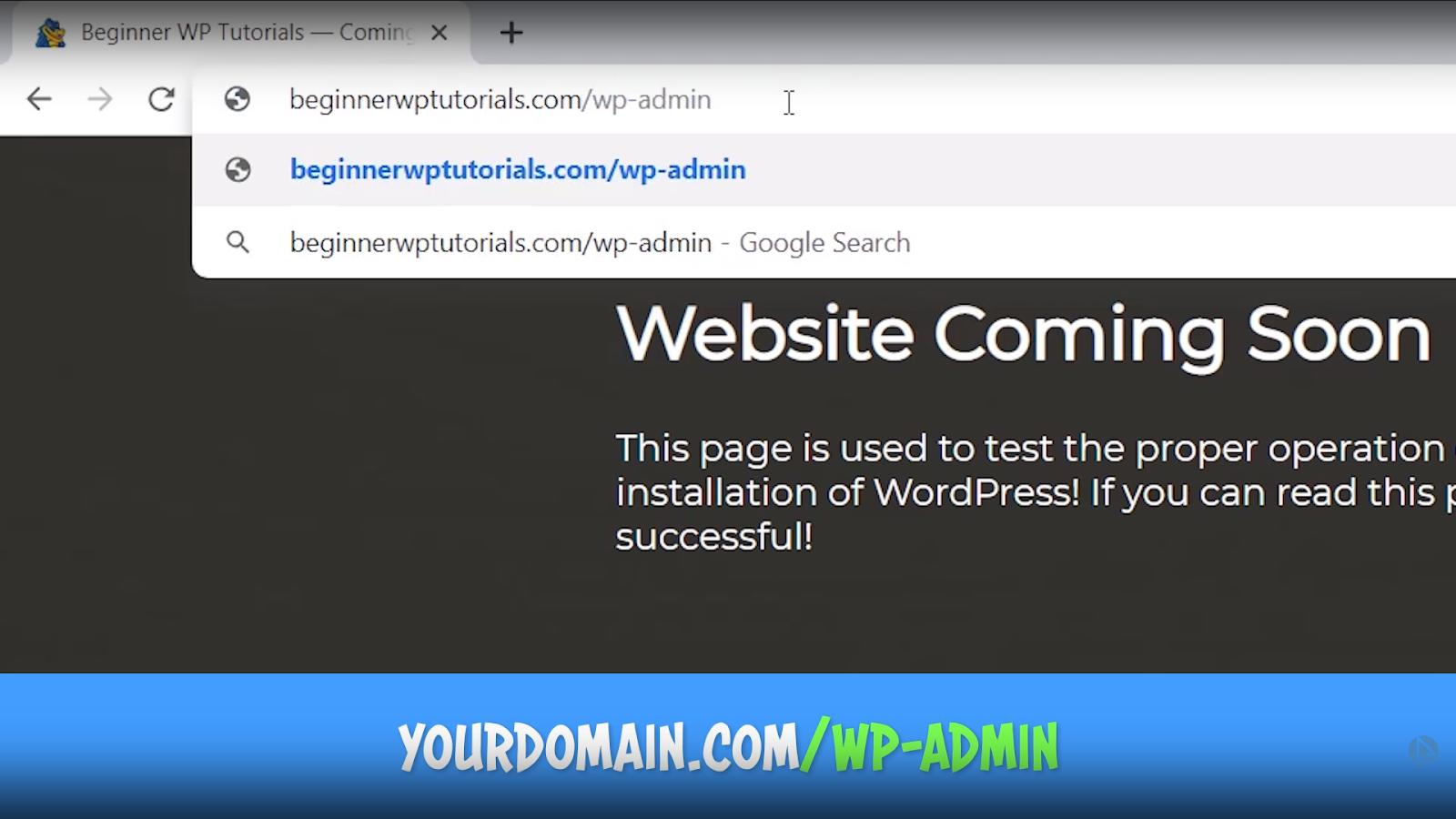 WordPress dashboard login url