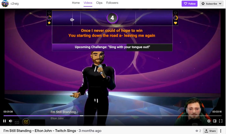 Twitch Sings: I'm Still Standing by Elton John