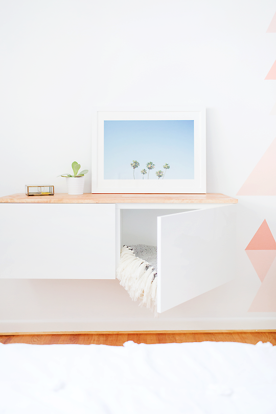 Floating Cabinets: These will help you save maney and transform your space.