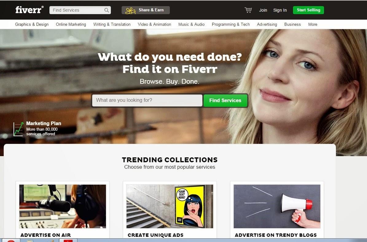 Fiverr - Freelancing websites for beginners