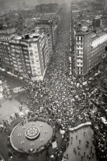 Manifestación en Bilbao, tras el asesinato de Ryan.