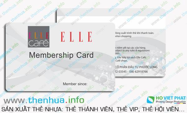 cơ sở sản xuất thẻ hội viên cho các doanh nghiệp