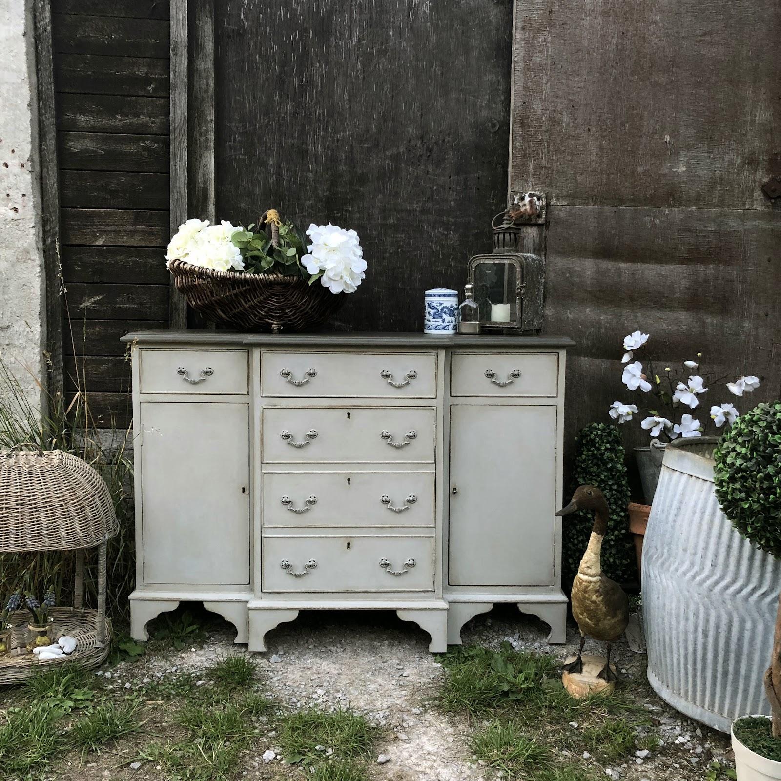 Shabby chic handmade vintage sideboard