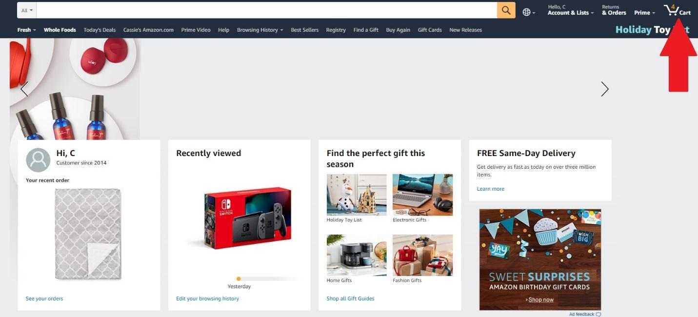 amazon add to cart example