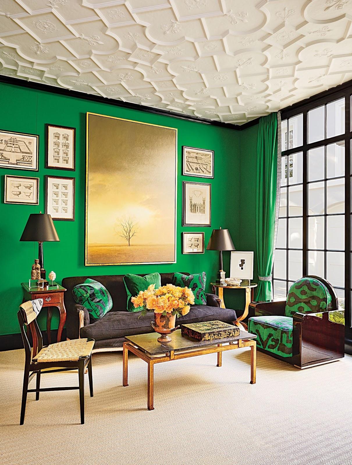 Penggunaan warna terang pada hunian bergaya interior art deco - source: architecturaldigest.com