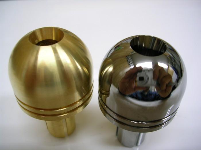 真鍮への三価クロムメッキ加工