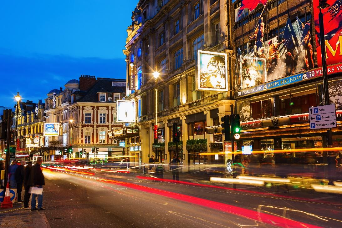 Shaftesbury Avenue in London's famous West End