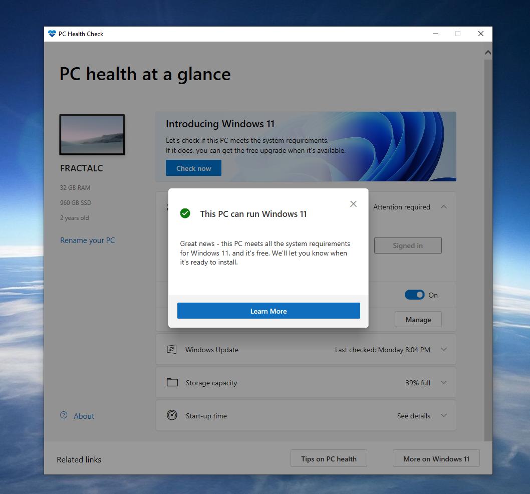 Can my PC run Windows 11