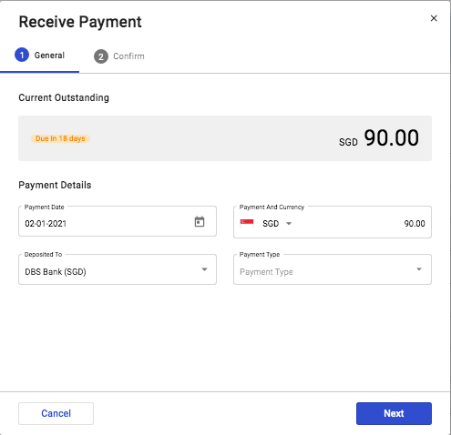 Generate Invoices and Receipts with Deskera: Step 2