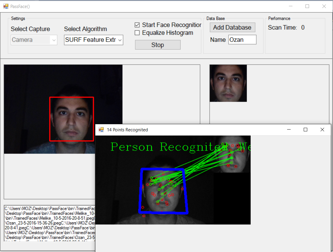 PassFace: Face Recognition Using Opencv