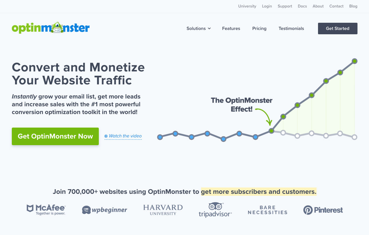 OptinMonster homepage.