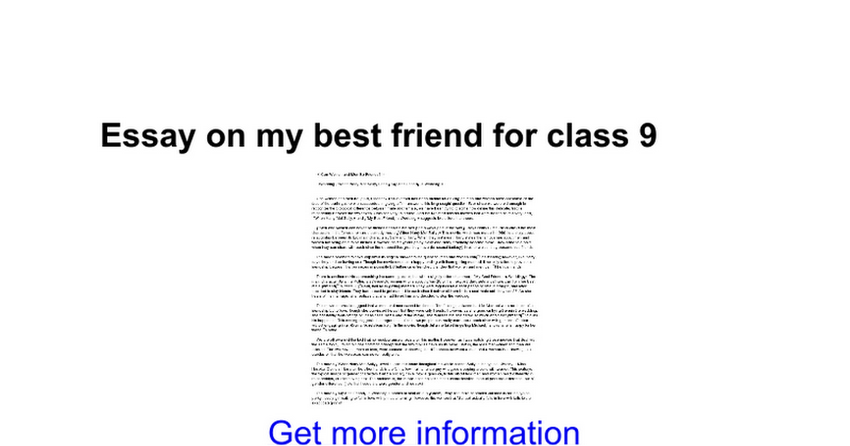 essay on my best friend for class google docs
