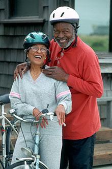 Healthy older cyclists.