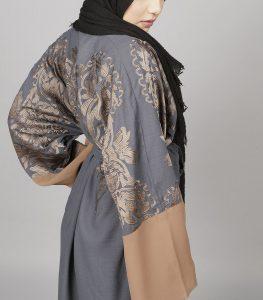 midnight blue kimono abaya