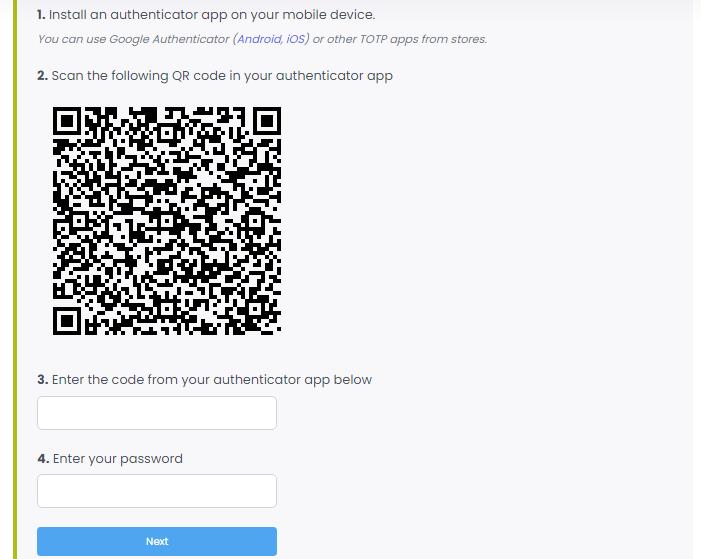 Two-Factor Authentication Configuration
